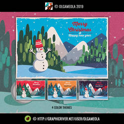 Christmas Greeting Cards/Backgrounds Vol.5 (Card4)