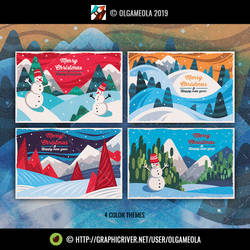 Christmas Greeting Cards/Backgrounds Vol.5