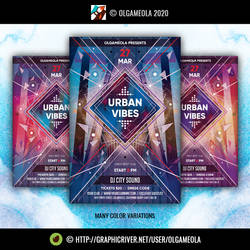 Club Music Party Flyer Template Urban Vibes