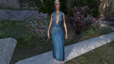 Azure Evening Silks, social by tulx
