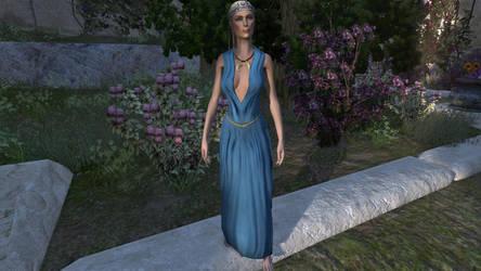 Azure Evening Silks, social by tulx