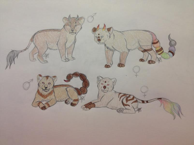 Cubs for 1tiptip1 by Demon-Child-13