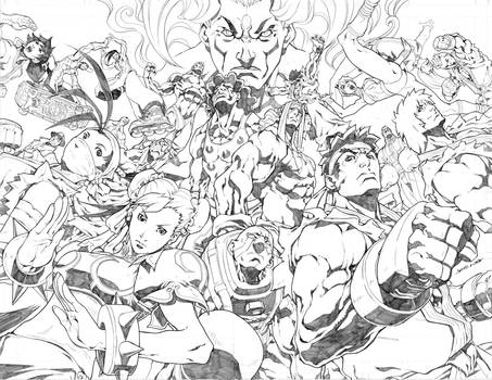Street Fighter 3 Teaser pencil