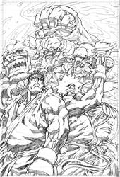 SF4 issue 3 cover pencils