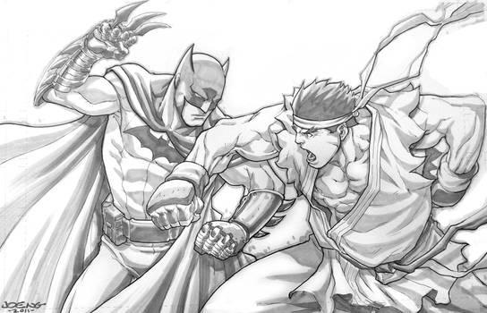 Batman vs Evil Ryu Commish