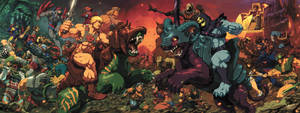 Masters of the Universe Battle scene