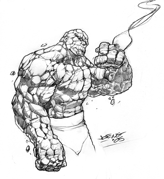 The Thing sketch by NgBoy on DeviantArt