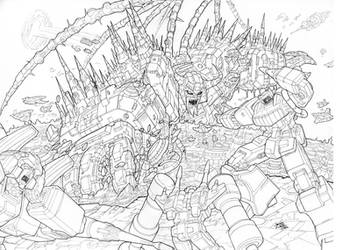 Unicron Attacks by NgBoy