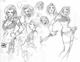 Red Sonja character study by NgBoy