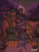 akuma coloured by chamba by NgBoy