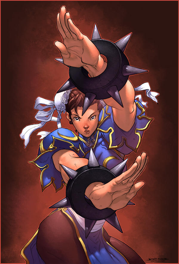 chun li coloured by luxun by NgBoy