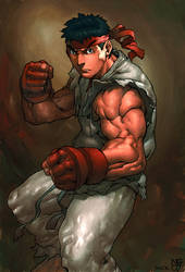 ryu coloured by kandoken by NgBoy