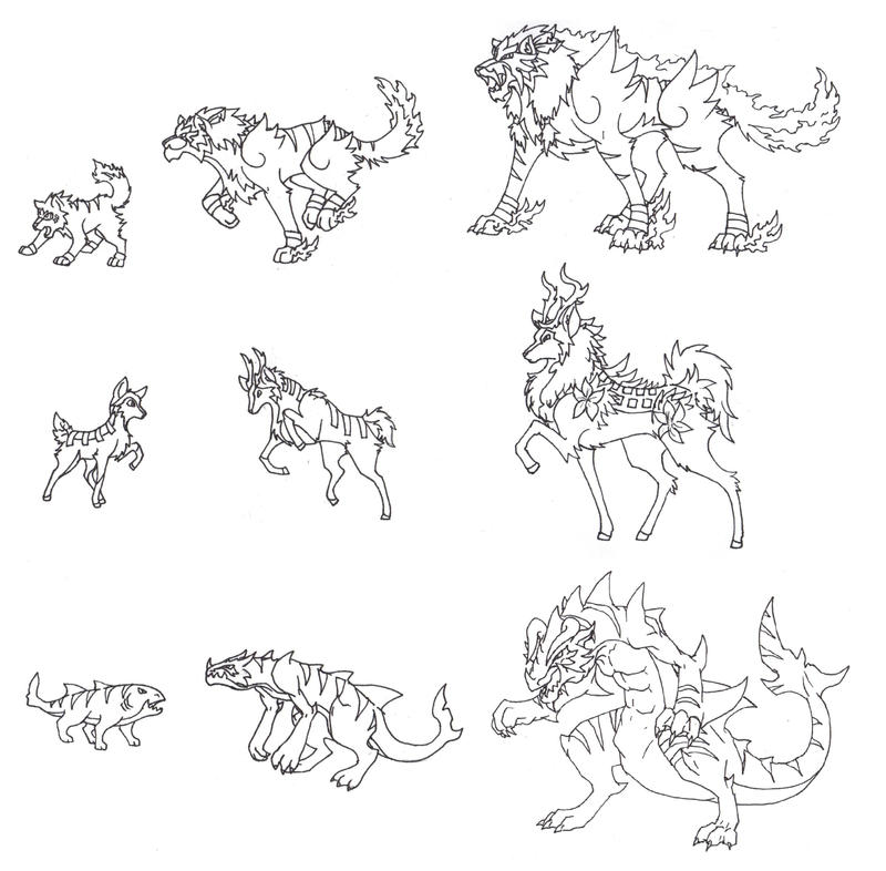 Image Result For Eeveelutions Coloring Pages