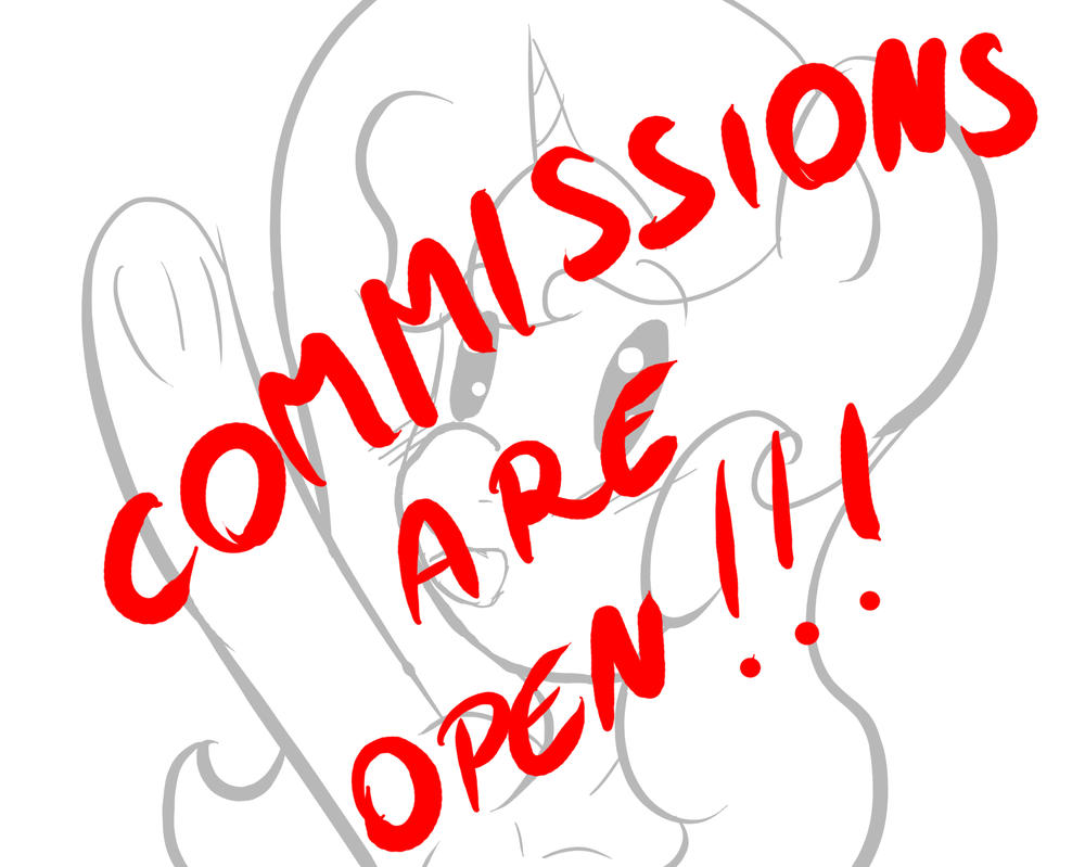 Commissions Are Open ! by Kisara16