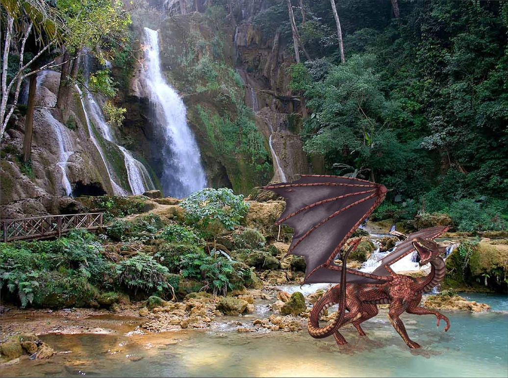 Dragon falls by Dragonsfire867
