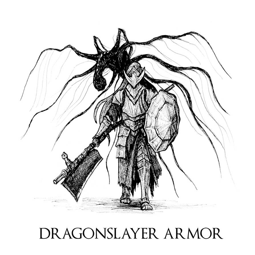 Dark Souls Iii Dragonslayer Armor By Skinrarb On Deviantart The dragonslayer armour, controlled by the pilgrim butterfly, lost its master long ago, but still remembers their sporting hunts. dark souls iii dragonslayer armor by