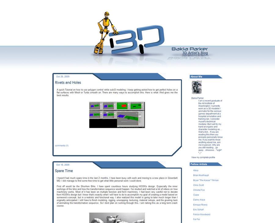 Bakia Parker Blog Design by bytesizetreasure