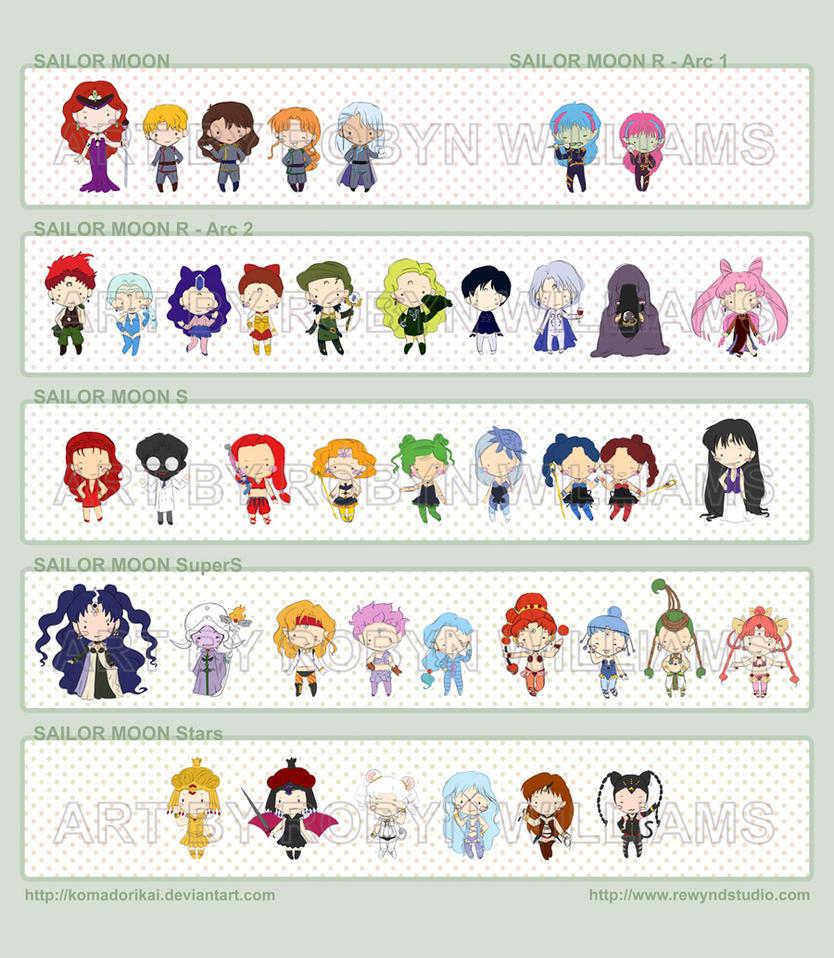 Sailor Moon Chibi Villains By Bytesizetreasure On DeviantArt