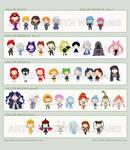 Sailor Moon Chibi Villains by bytesizetreasure