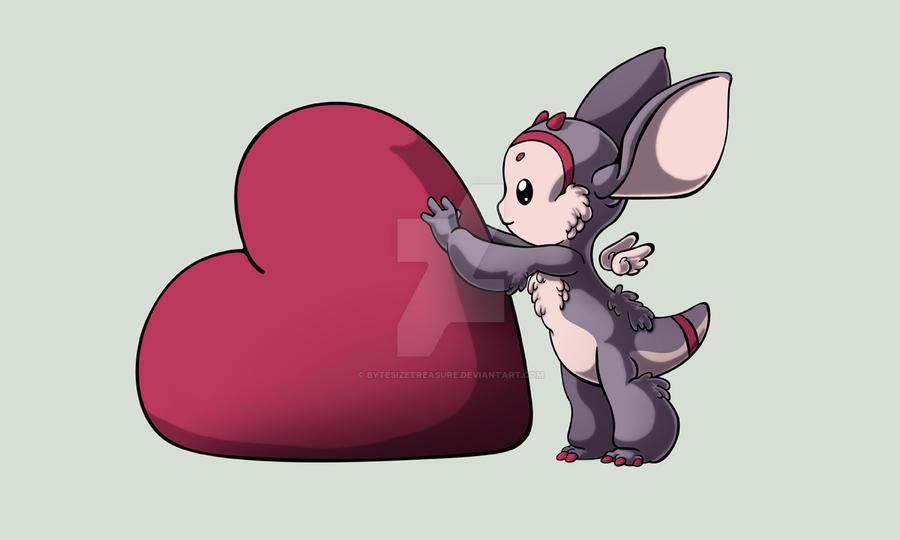 Heart Monster Akela by bytesizetreasure