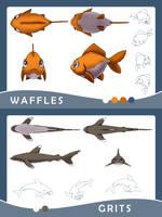 Characters - Waffles and Grits by bytesizetreasure