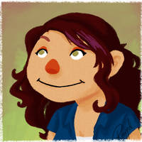 Muppet-style Self Portrait by bytesizetreasure