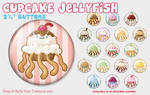 Cupcake Jellyfish Buttons