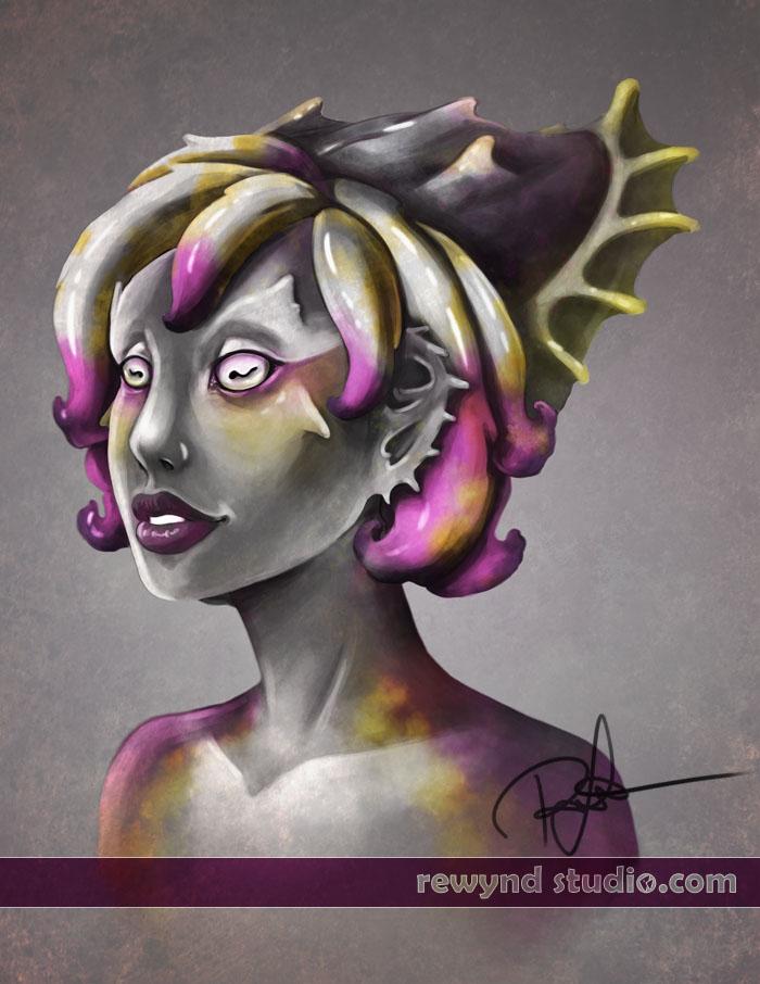 Cuttlefish Portrait by bytesizetreasure