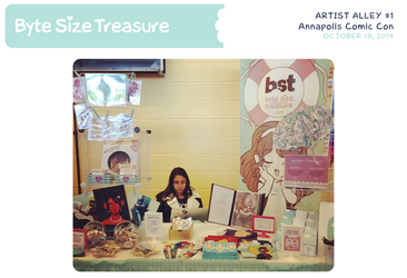 BST Artist Alley #1 - Annapolis Comic Con 2014 by bytesizetreasure