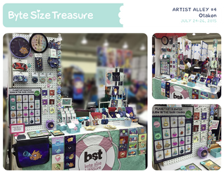 BST Artist Alley #4 - Otakon 2015 by bytesizetreasure