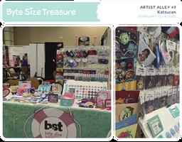 BST Artist Alley #7 - Katsucon 2016 by bytesizetreasure