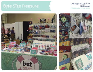 BST Artist Alley #7 - Katsucon 2016 by bytesizetreasure
