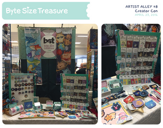 BST Artist Alley #8 - Creator Con by bytesizetreasure