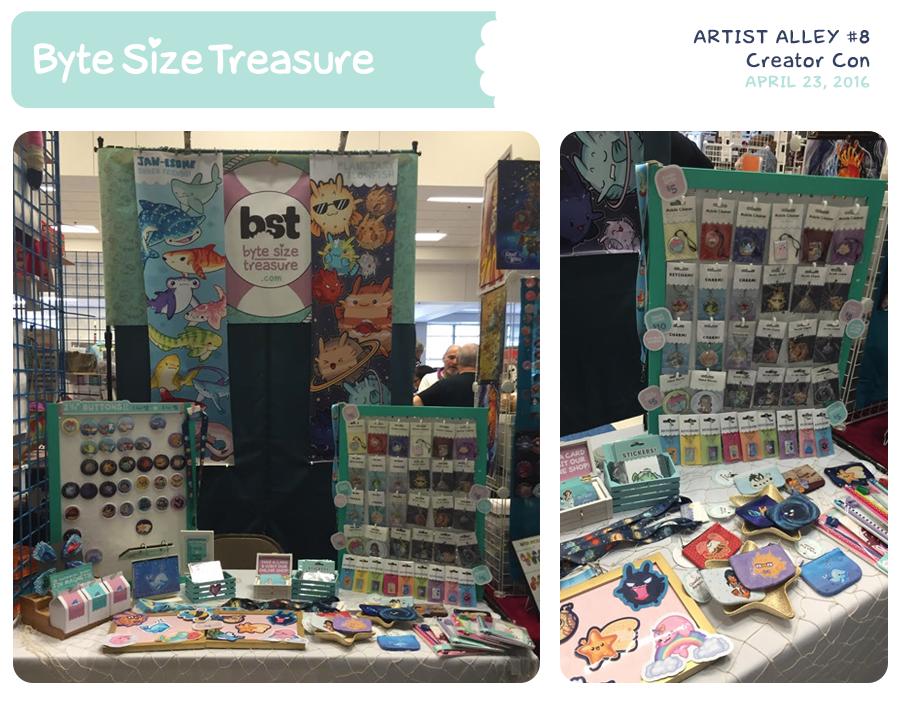 BST Artist Alley #8 - Creator Con by bytesizetreasure