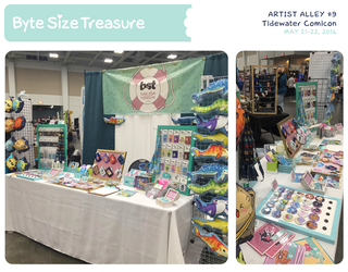 BST Artist Alley #9 - Tidewater Comicon by bytesizetreasure