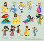 Disney Princesses+Heroines