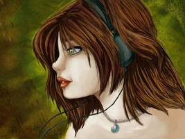 Self Portrait by bytesizetreasure
