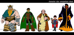 Character Size comparison sheet - archives