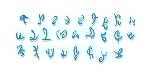 Orc Language Runes by Calitrix