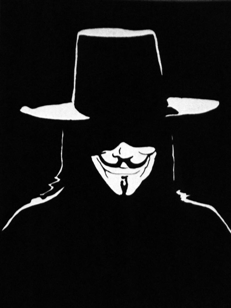 V for Vendetta by RomiaNyan  V For Vendetta Stencil