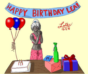 Lea Fan Art 2 - HAPPY BDAY by Lutelian
