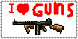 I love Guns Stamp by JavatheFox
