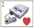 i heart SNES stamp by JavatheFox