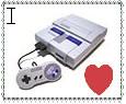 i heart SNES stamp by JavatheFox