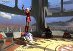 Ahsoka on the R2