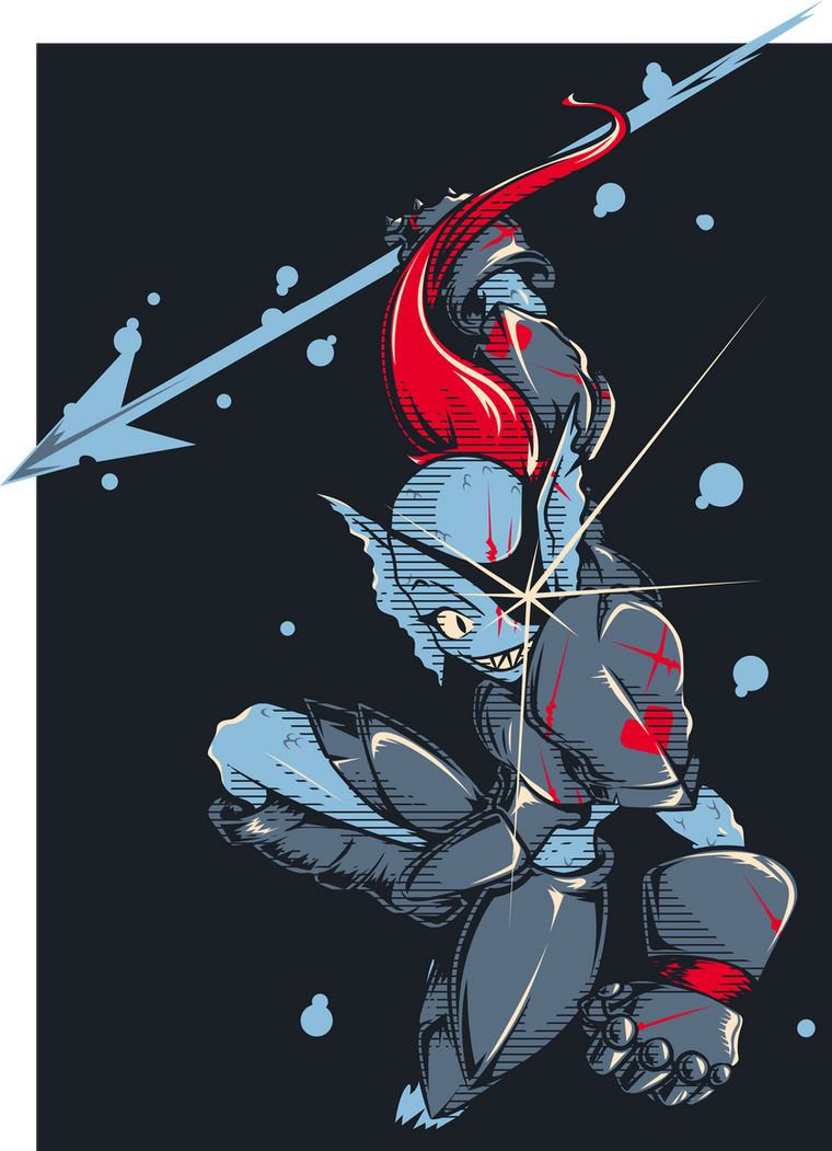 Undyne - A True Hero by El-Wolfgang