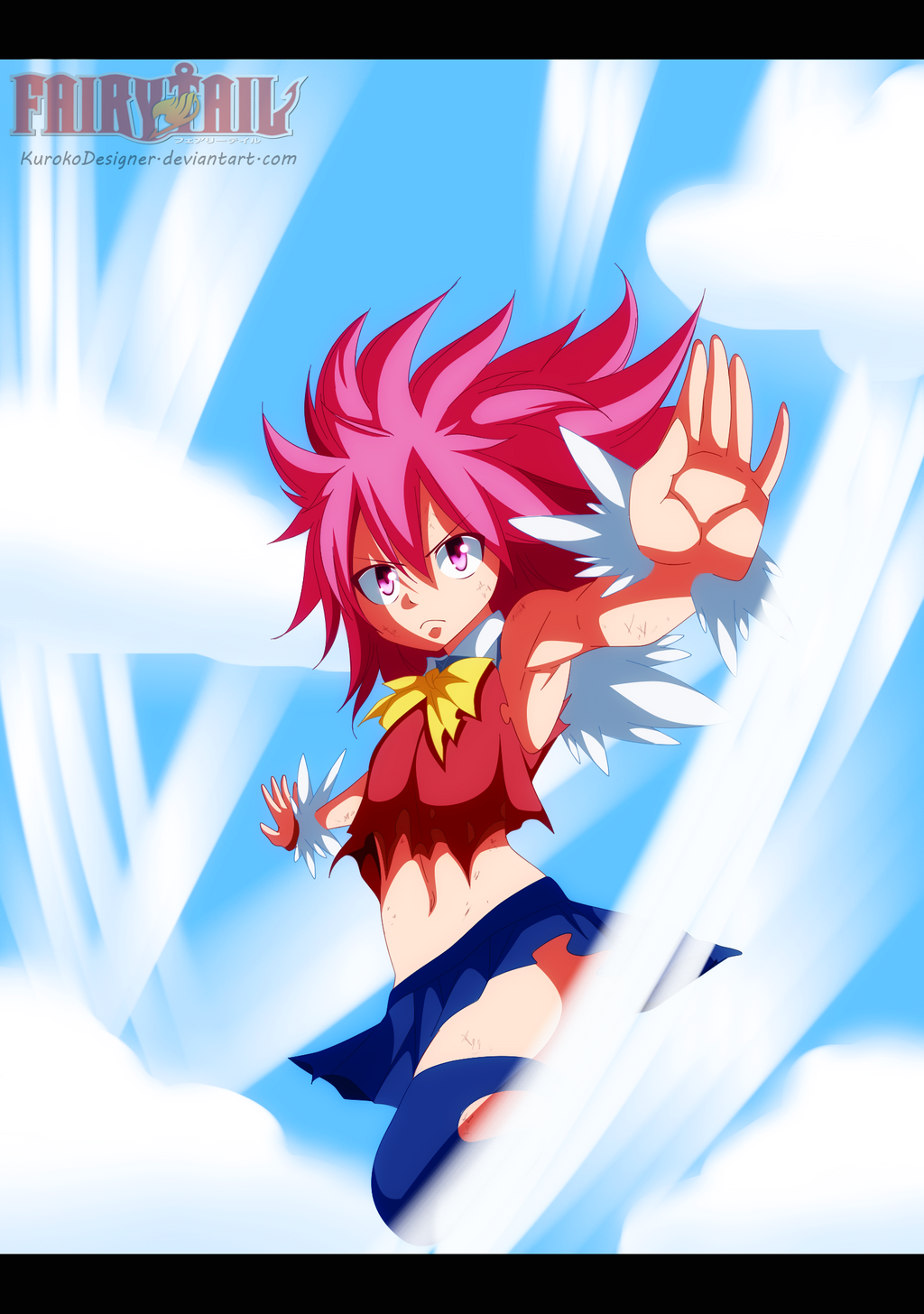 Wendy Dragon Force. by KurokoDesigner on DeviantArt