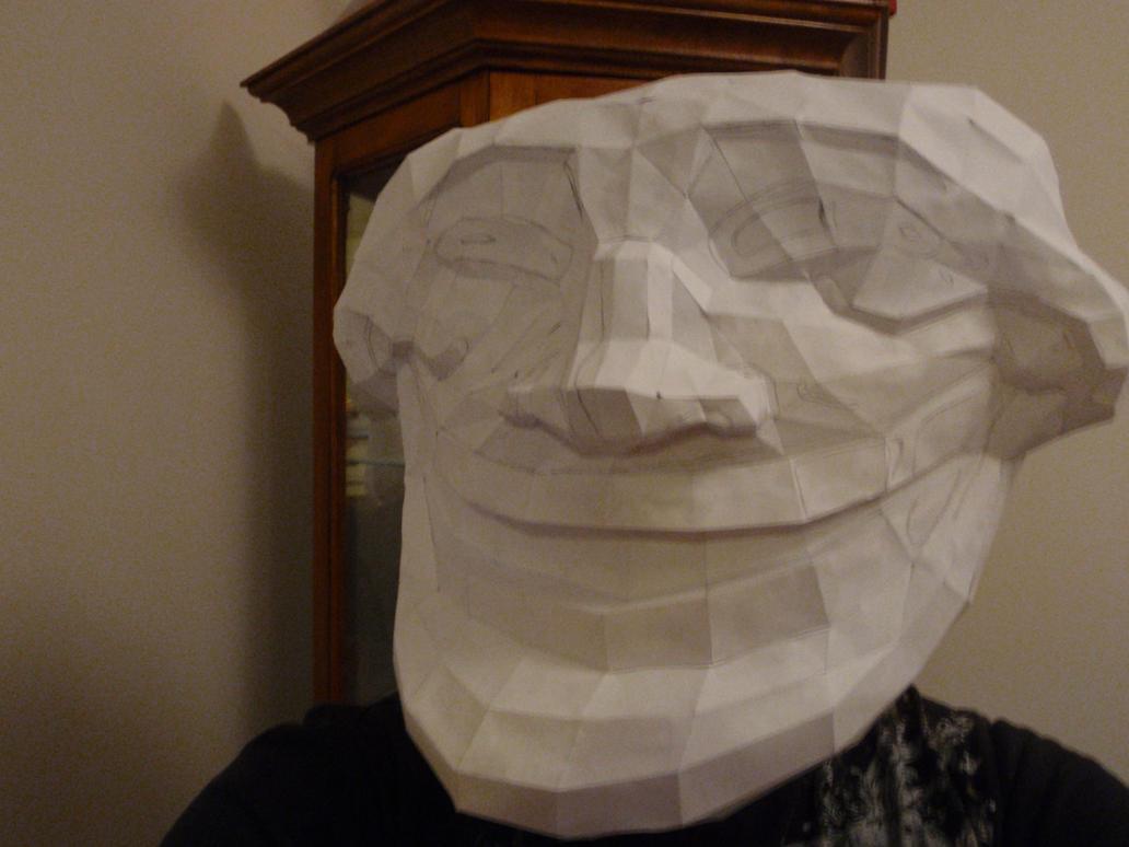 Trollface Pepakura Mask Pre-Paint by the-zagg on DeviantArt