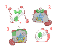 [open] Strawberry Patch Adoptables by Romaji