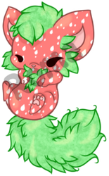 [closed] Strawberry Foxcat Adoptable
